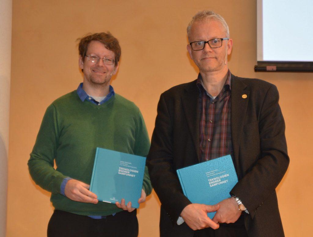 Foredragsholderne Magnus Vollset og Nils Gunnar Kvamstø