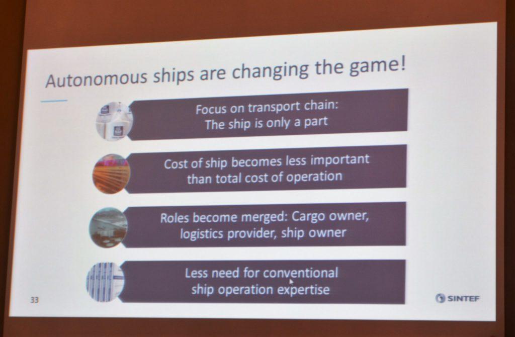 Fordeler ved autonome skip