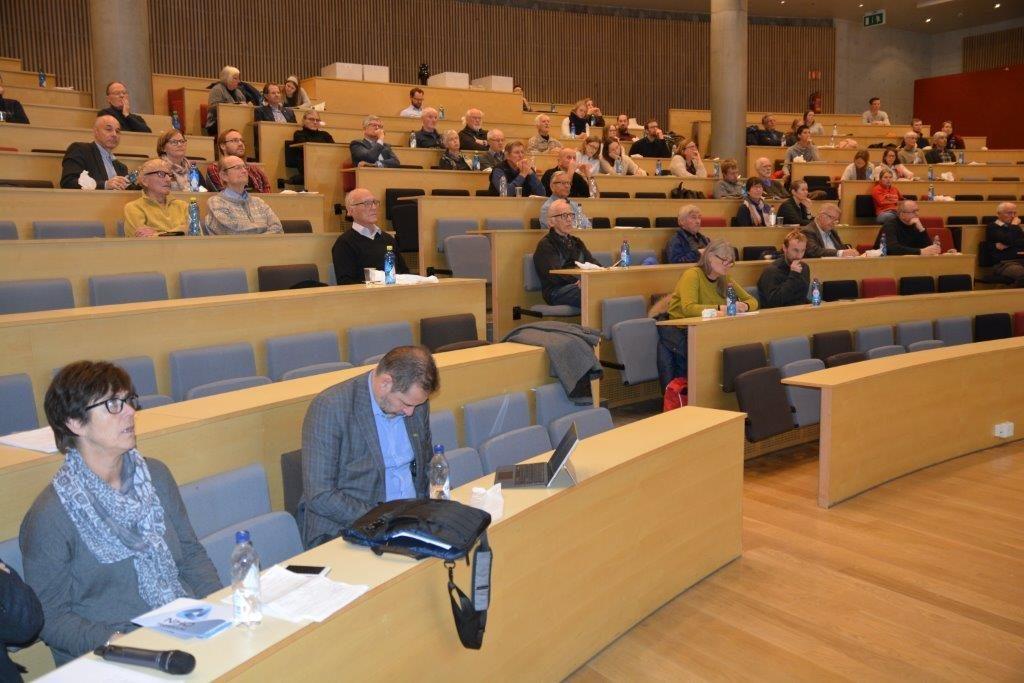 Bilde av salen fra møtet om Grønn omstilling i Trondheim