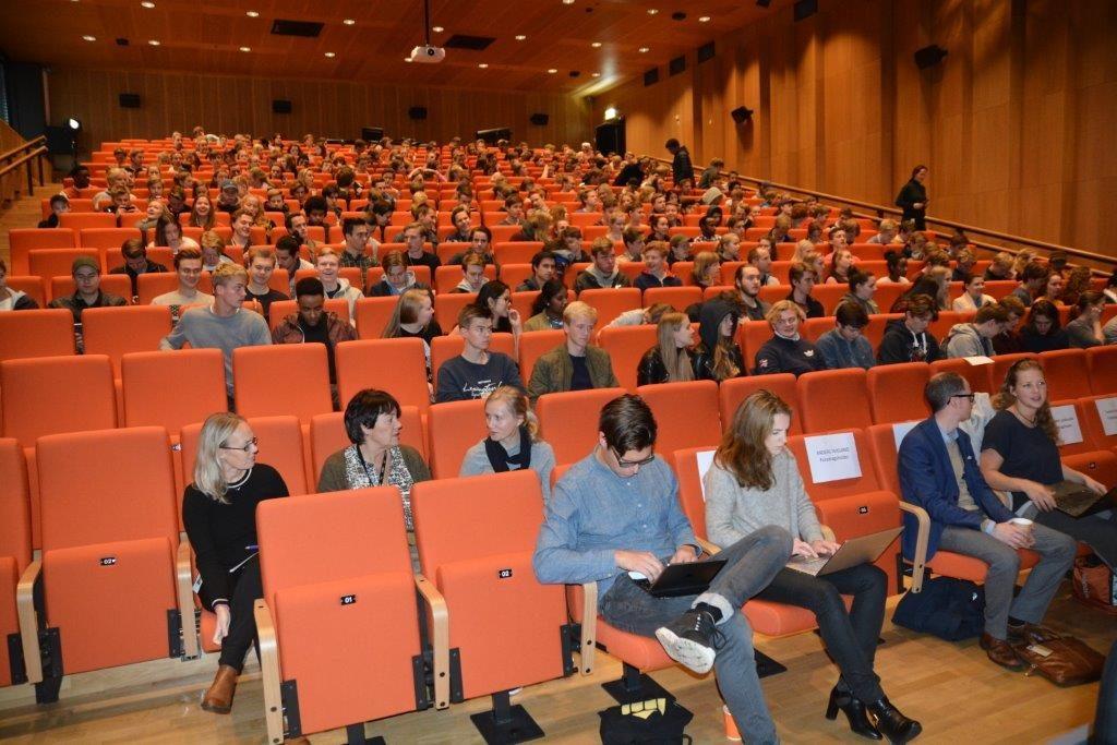 Fra salen på Høgskolen i Bergen (HiB)