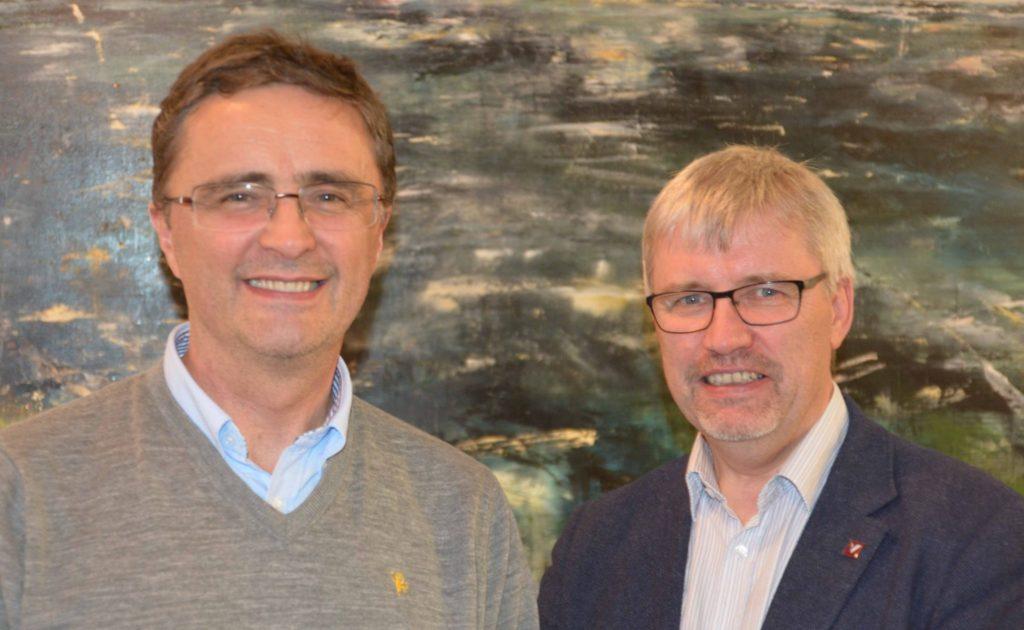 Knut Øvsthus til venstre og Geir Anton Johansen til høyre