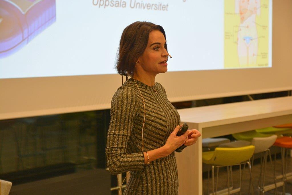 Foredragsholder Maria Strømme, en av verdens ledende nanoforskere