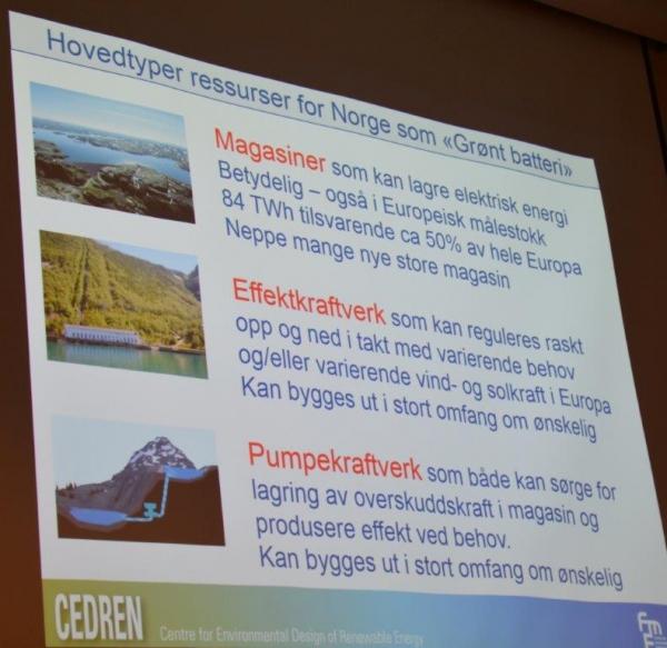 Powerpointslide med miljøvennlige energiressurser