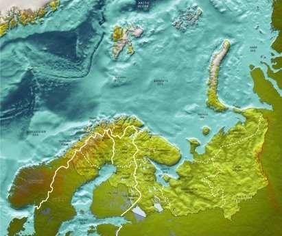 Kart over nordlige farvann